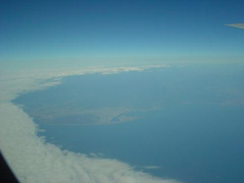 円状に雲が切れ、晴れました。