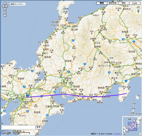 JAL110便の航跡