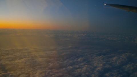 黄昏から蒼青へのグラデーション