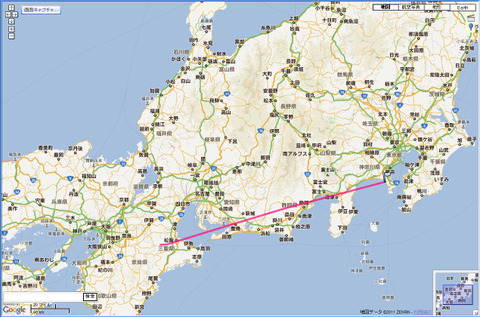 JAL137便の航跡