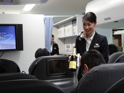 シャンパンの銘柄を説明してもらいます