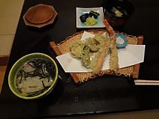 カニ雑炊 天婦羅(カニは連れ合いから奪い取ったもの)