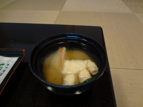 カニのお出汁が良く出ていて美味しいお味噌汁