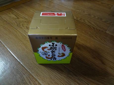 丸海のパッケージ箱 鯛のイラストが旧バージョン