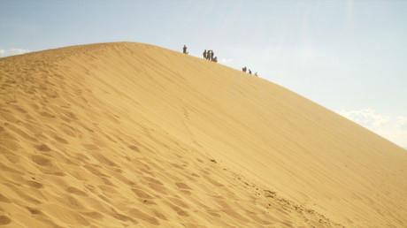 砂漠のような砂山のエッジの形