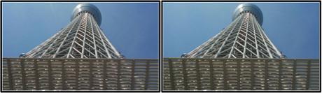 直下から見上げても天辺見えないし・・・高さの実感が無い。(3D クリックで拡大画像)