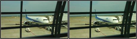 出発を待つANA31便 JA8289
