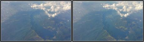 芦ノ湖もハッキリ見えました(3D クリックで拡大画像)