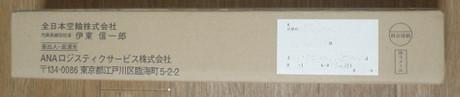 届いた梱包の風体(表面)
