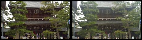 智恩寺の山門 3D画像(平行法)