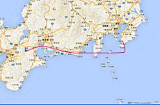 JAL112便の航跡