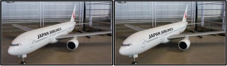 飛行可能なラジコン模型(平行法用立体画像)