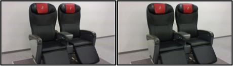 本革仕様の新シートです(平行法用立体画像)