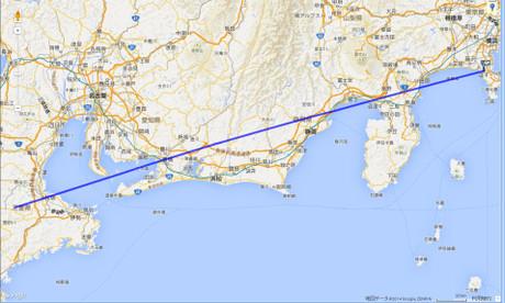 JAL139便の航跡