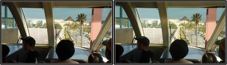 リゾートラインの先頭車前面展望(平行法用立体画像)