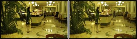 ブッフェレストランの雰囲気(平行法用立体画像)