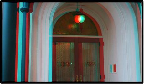 Club33の玄関(赤青メガネ用立体画像)
