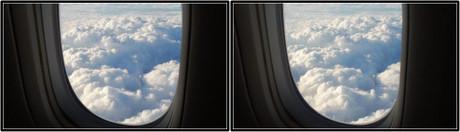 窓の外は夏の雲のようにモコモコ(平行法用立体画像)