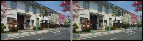今も現役で使われている建物(平行法用立体画像)