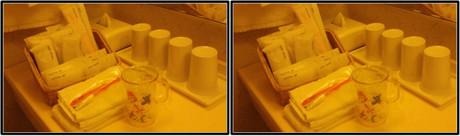 洗面台のアメニティ(平行法用立体画像)