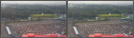 遊園地のレーシングカートコースに挑戦!(平行法用立体画像)