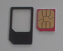 マイクロSIMに下駄を履かせて普通SIMとして使います