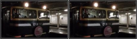 夜の機関車を撮影(平行法用立体画像)