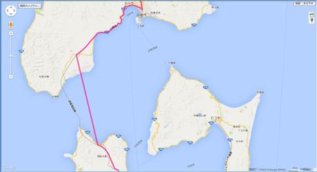 GPSによる青函トンネル前後の軌跡