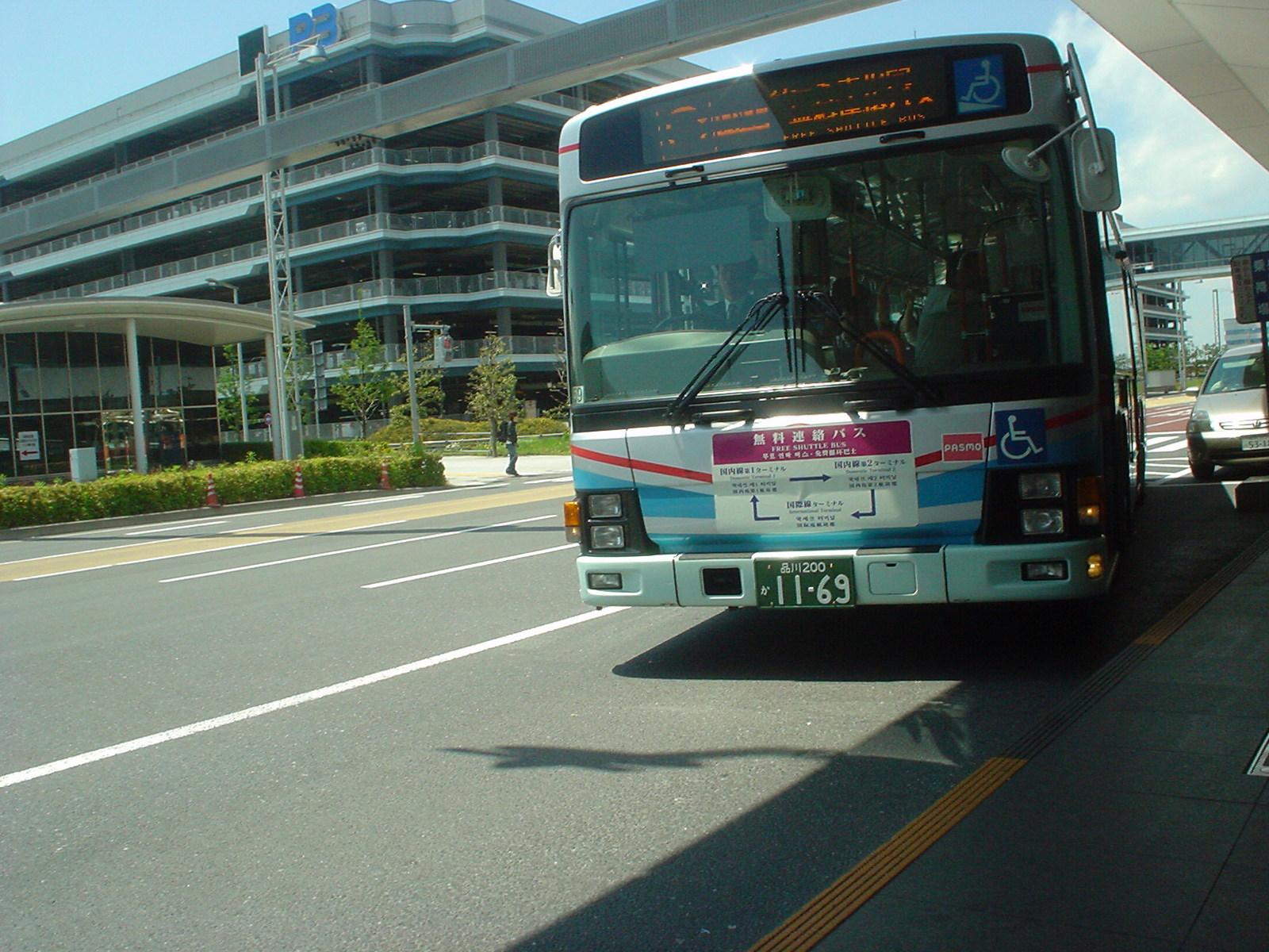やってきた無料循環バス