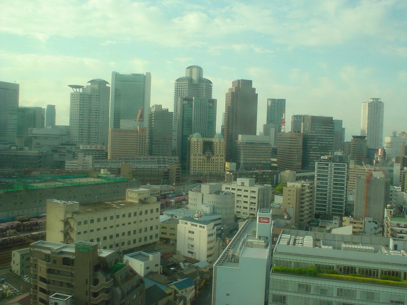 窓から見る朝の景色