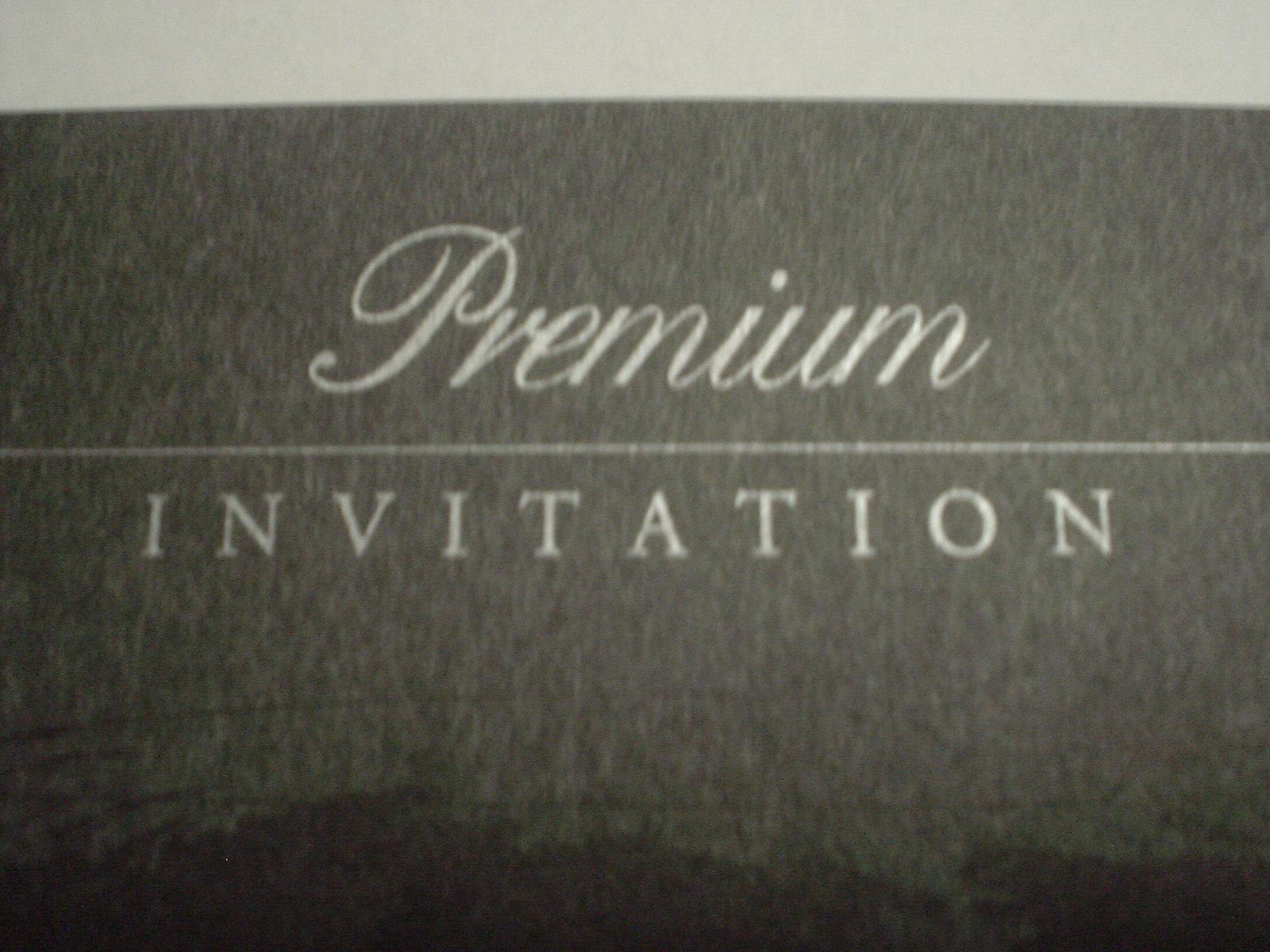 インビテーションの文字が招待である証しです