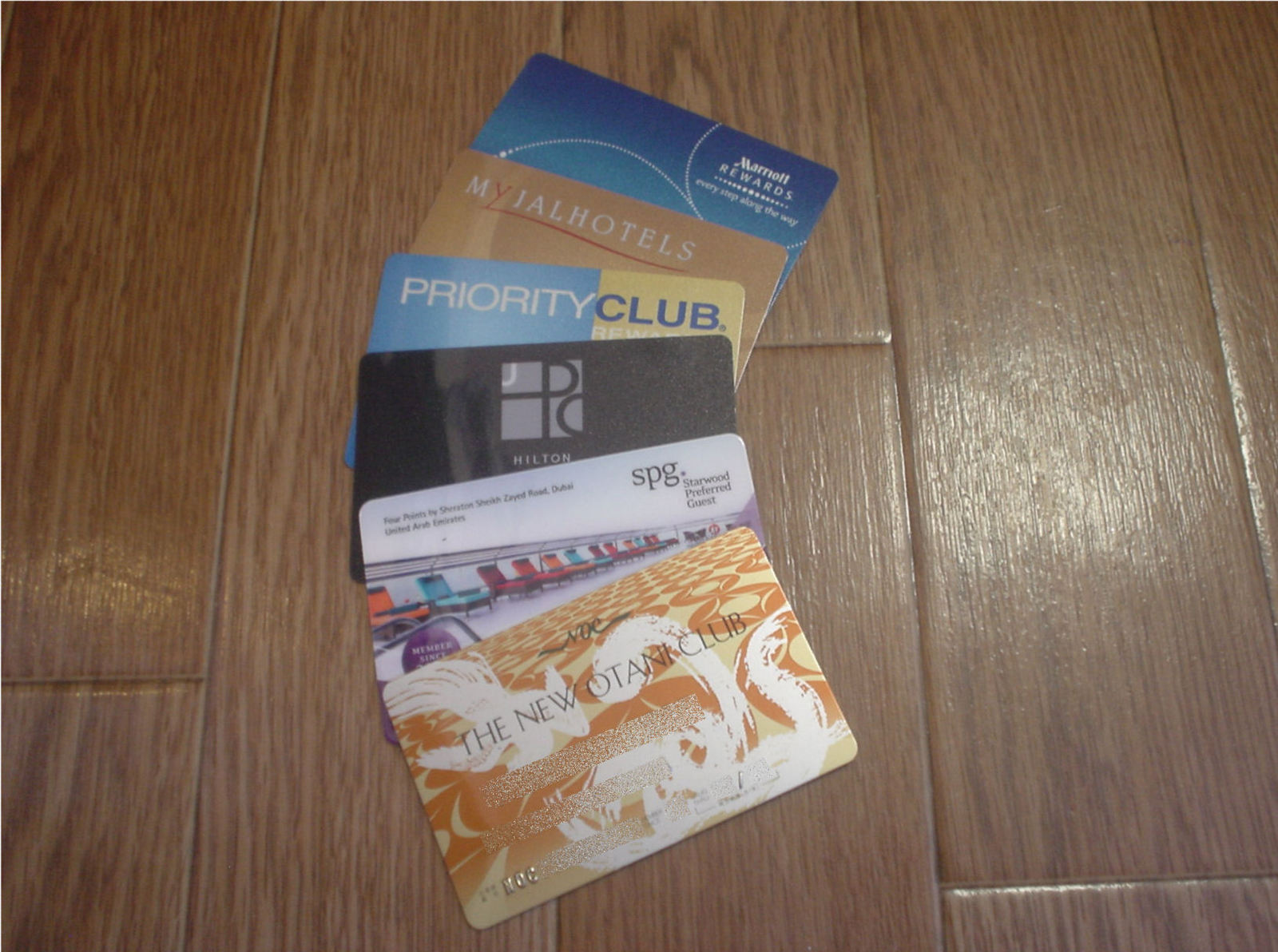 ホテル系カードのコレクション?