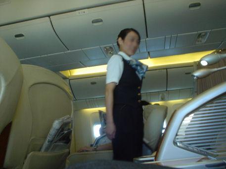 2009年9月1日 羽田→福岡 JAL323便の機内(ファーストクラス)
